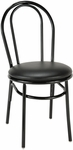 3200 Series Armless Hospitality Chair with Rounded Steel Frame Back and Upholstered Seat [3210-IFK]