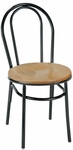3200 Series Hospitality Rounded Back Chair with Wood Seat [3210-WOOD-IFK]