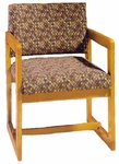 3205 Reception Chair w/ Upholstered Back & Seat - Grade 1 [3205-GRADE1-ACF]