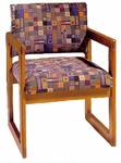 3300 Reception Chair w/ Upholstered Back & Seat - Grade 1 [3300-GRADE1-ACF]