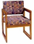 3300 Reception Chair w/ Upholstered Back & Seat - Grade 2 [3300-GRADE2-ACF]