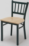 3309 Series Cafe Chair with Wood Seat [3309-WOOD-IFK]