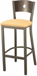 3315A Series Cafe Barstool with Upholstered Seat and Wood Back [BR3315A-IFK]
