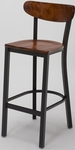 3319K Series Cafe Barstool with Wood Seat and Back [BR3319K-WOOD-IFK]