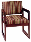3350 Reception Chair w/ Upholstered Back & Seat - Grade 1 [3350-GRADE1-ACF]