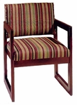 3350 Reception Chair w/ Upholstered Back & Seat - Grade 2 [3350-GRADE2-ACF]