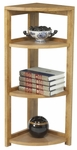Flip Flop 34''H High Corner Folding Wooden Bookcase - Oak [FFC3412MO-FS-REG]