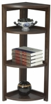 Flip Flop 34''H High Corner Folding Wooden Bookcase - Mocha Walnut [FFC3412MW-FS-REG]
