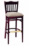 3471 Bar Stool w/ Upholstered Seat and Brass Trim on Foot Rest - Grade 1 [3471-GRADE1-ACF]