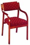 3500 Stacking Reception Chair w/ Upholstered Back & Seat - Grade 1 [3500-GRADE1-ACF]