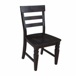 Java Solid Wood Armless Ladder Back 36.5''H Dining Chairs - Set Of 2 - Mocha [C15-190P-FS-WHT]