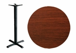 36'' Double-Sided Round Indoor Table Top - Bar Height Cross Base [CM36R-TB-3030T-BFMS]
