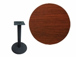 36'' Double-Sided Round Indoor Table Top - Standard Height Round Base [CM36R-TB-22R-BFMS]