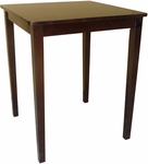 Shaker Style Solid Wood 30''W X 36''H Counter Height Square Table - Java Finish [T15-3030GS-FS-WHT]
