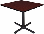 Cain 36'' Square Laminate Breakroom Table with PVC Edge - Mahogany [TB3636MH-FS-REG]