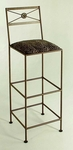 NeoClassic 36'' Wrought Iron Barstool with Upholstered Seat [GMC-B34-N-FS-GCM]
