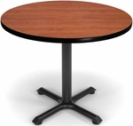 36'' Round Multi Purpose Table - Cherry Top with Black XT Base [XT36RD-CHY-MFO]