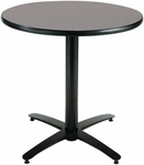 36'' Round Hospitality Graphite Nebula Table with Black Arch Base [T36RD-B2125-GPN-IFK]