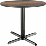 36'' Round Hospitality Walnut Table with X-Base [T36RD-B2025-WL-IFK]