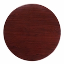 36'' Round Mahogany Resin Table Top