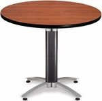 36'' Round Metal Mesh Base Multi-Purpose Table - Cherry [KMT36RD-CHY-MFO]
