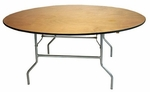 Round Plywood Folding Table - 36''W [TABPLY36RD-AS]