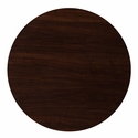 36'' Round Walnut Resin Table Top