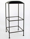 Wrought Iron 36'' Backless Barstool with Upholstered Seat [GMC-B34-FS-GCM]