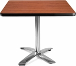 36'' Square Folding Multi-Purpose Table - Cherry [KFT36SQ-CHY-MFO]