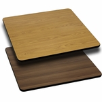 36'' Square Table Top with Reversible Natural or Walnut Laminate Top [BFDH-3636NATWALSQ-TDR]
