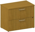 300 Series 36'' W Two Drawer Lateral File File Kit - Modern Cherry [300SFL236MCK-FS-BBF]
