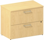 300 Series 36'' W Two Drawer Lateral File File Kit - Natural Maple [300SFL236ACK-FS-BBF]