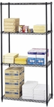 36'' W x 18'' D Commercial Extra Strength Wire Shelving - Black [5276BL-FS-SAF]
