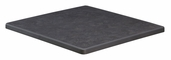 36''W x 60''L Outdoor High Pressure Melamine Top with Plastic Bumper Edge in Black Marble Finish