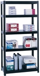 36'' W x 18'' D x 72'' H Boltless Extra Strength Shelving with Durable Powder Coat Finish - Black [5245BL-SAF]