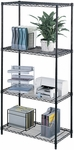 36'' W x 18'' D Industrial Wire Shelving - Black [5285BL-FS-SAF]
