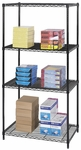 36'' W x 24'' D x 72'' H Industrial Wire Shelving with Durable Powder Coat Finish - Black [5288BL-SAF]