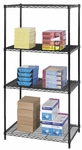 36'' W x 24'' D Industrial Wire Shelving - Black [5288BL-FS-SAF]