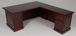 36 x 72 Wood Veneer Desk With Left Return in Mahogany Finish [9WS-1MH-FS-FDG]