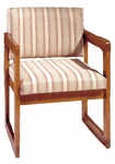 3600 Reception Chair w/ Upholstered Back & Seat - Grade 1 [3600-GRADE1-ACF]