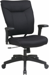 Space 37 Series Deluxe Mesh Seat and Back Managers Chair with 2-to-1 Synchro Tilt Control with Casters - Black [37-33N1A7U-FS-OS]