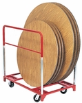 Steel Frame Round Folding Table Mover with 5'' Casters [3701-RPC]