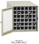 38'' D Thirty-Six Tube Steel Roll File with Dust Resistant Reversible Doors - Tropic Sand [4962-FS-SAF]