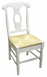 Empire Wooden Armless 38''H Dining Chair With Rush Seat - Set Of 2 - White [C31-1200P-FS-WHT]