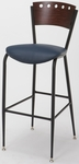 3818A Series Cafe 2'' Upholstered Seat and Wood Back Barstool [BR3818A-IFK]