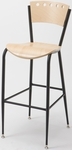 3818A Series Cafe Barstool with Natural Wood Finish Seat and Back [BR3818A-QS-ST16-IFK]