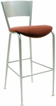 3818LC Series Steel Frame Armless Cafe Barstool with Contoured Metal Back and 2'' Upholstered Seat [BR3818LC-IFK]