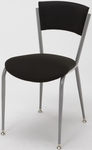 3800 Series Round Steel Frame Armless Cafe Chair with Contoured Upholstered Back and 2'' Upholstered Seat [3818P-IFK]