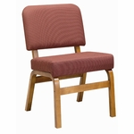 3845 Fellowship Chair with Upholstered Back & Seat - Grade 2 [3845-GRADE2-ACF]
