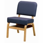 3846 Fellowship Chair with Book Shelf, Upholstered Back & Seat - Grade 1 [3846-GRADE1-ACF]